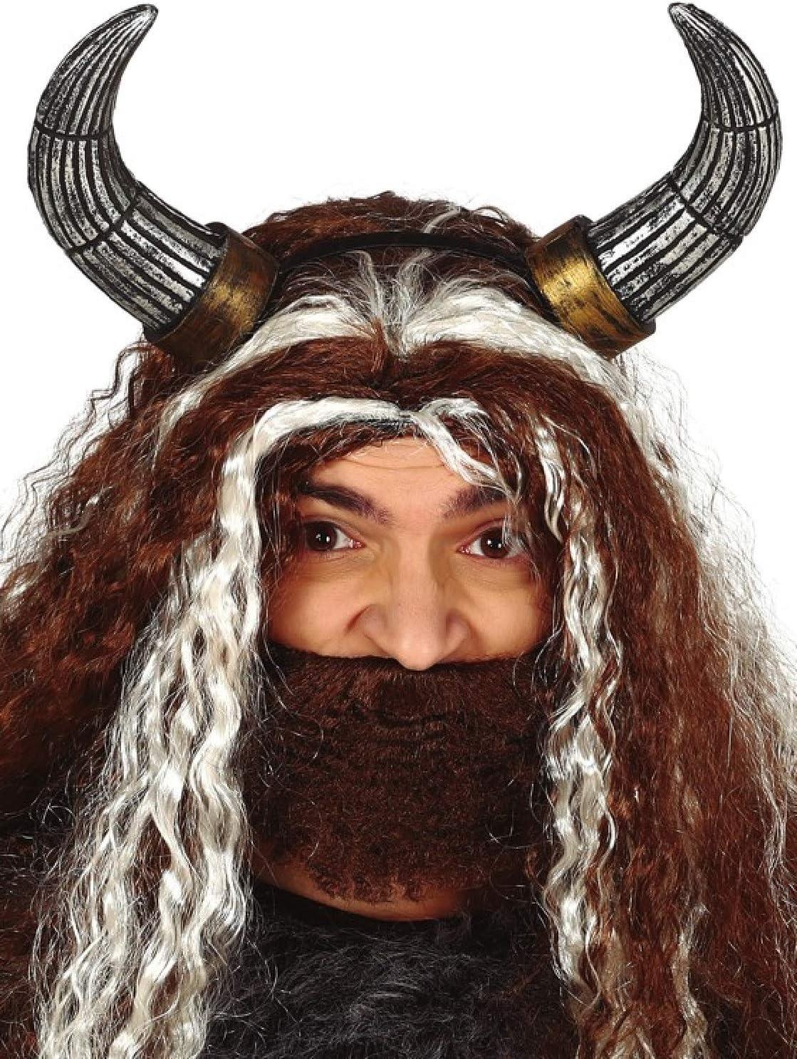 Demon Warrior Mask Viking Halloween Mens Adults Fancy Dress Costume Accessory