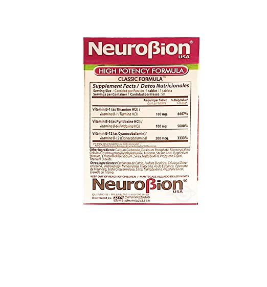 Amazon.com: OTC Neurobion Dietary Supplement 50 units - Suplemento Multivitaminico (Pack of 1): Health & Personal Care