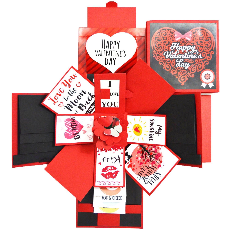 DecuT Explosion Box 3 Layered Handmade Valentine Explosion Box Romantic Gift Unique Scrapbook DIY Sweet Memories Photo Album(Non Customized) V1 (B078VQQGQM) Amazon Price History, Amazon Price Tracker