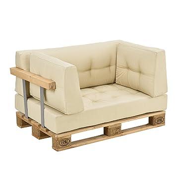 en.casa] Modernes Paletten-Sofa In/Outdoor + 1x Europalette ...