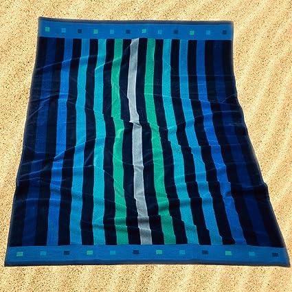 Burrito Blanco Toalla de Playa/Toalla de Piscina 174 Grande para Hombre o Mujer Algodón
