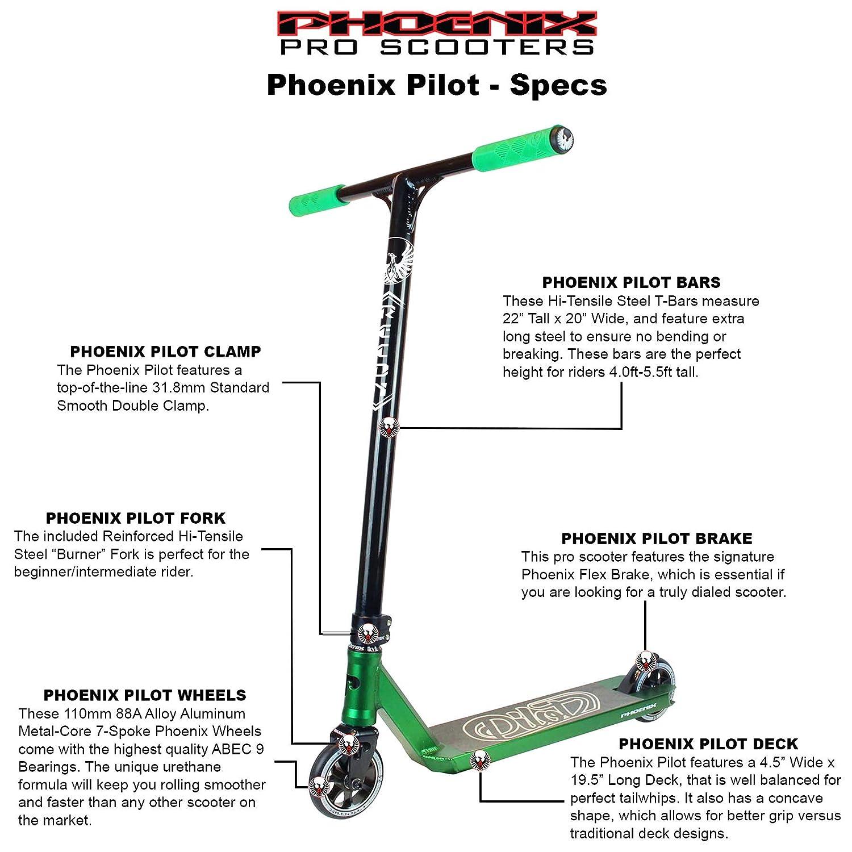 Amazon.com: Phoenix Pilot Pro Scooter: Sports & Outdoors