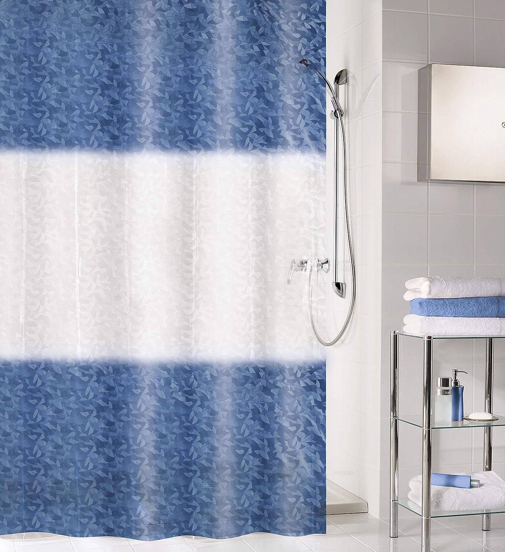 Tenda da doccia in PEVA colore: Blu scuro 180 x 200 cm Kleine Wolke