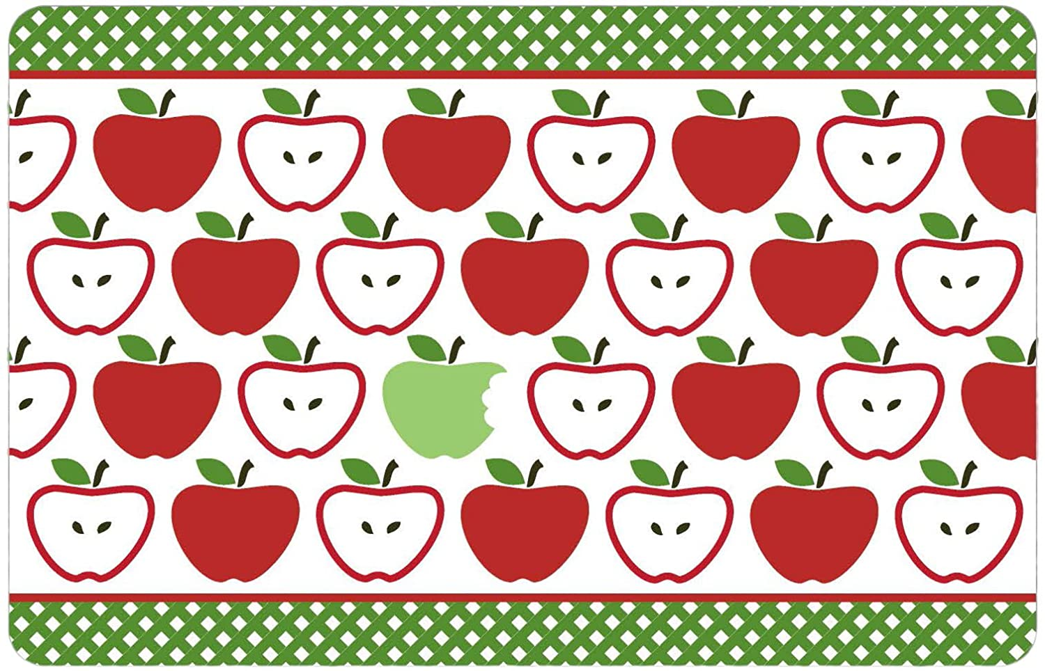Apples Floor Mat Gourmet Club Anti-Slip Printed Kitchen Rug 18x28