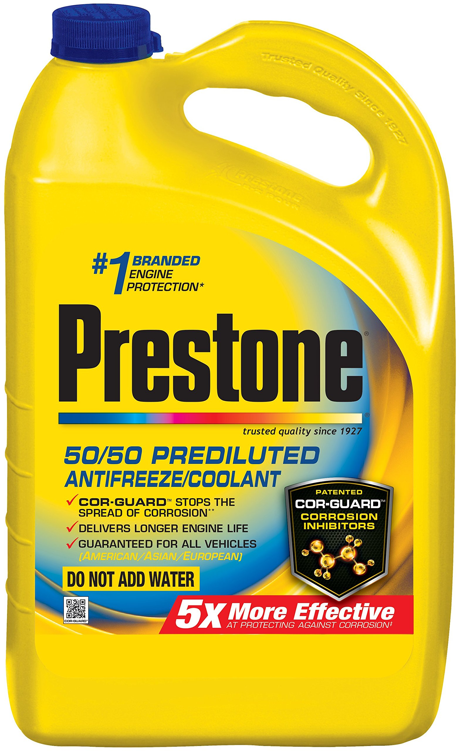Prestone AF2100-6PK Extended Life 50/50 Antifreeze - 1 Gallon, (Pack of 6) by Prestone