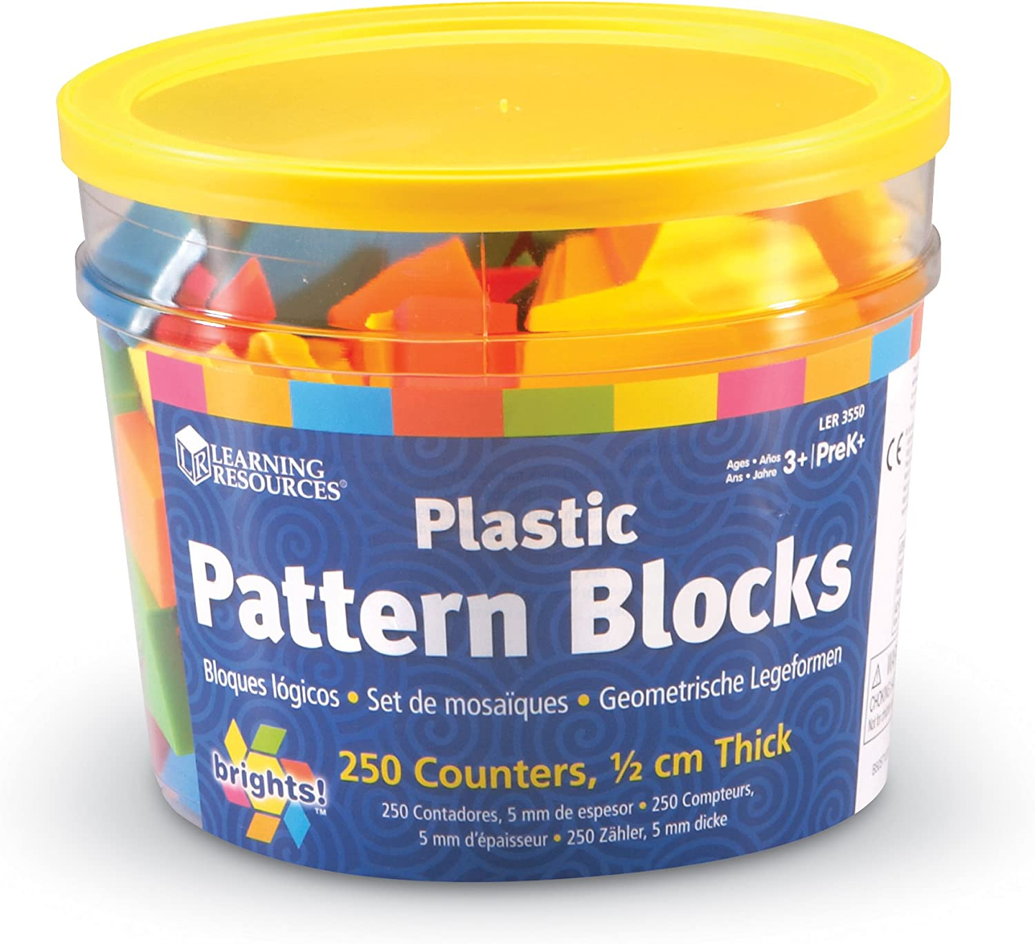 Learning Resources LER3550 Brights Pattern Blocks
