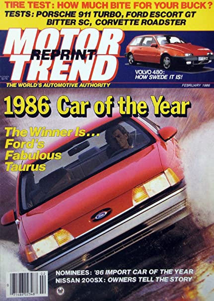 1986 Car of the Year - REPRINT