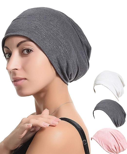 Night Sleep Cap Chemo Hat - Grey Black Women Soft Slouchy Beanie Bamboo  Summer Cancer Headwear 64562203872
