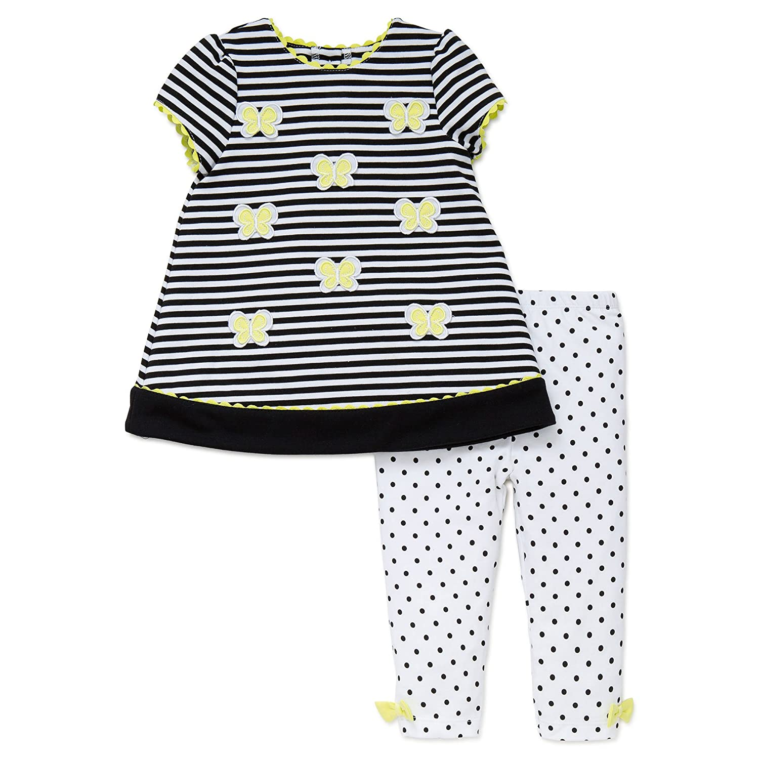Little Me Toddler Girls Spring Tunic Dress and Legging Pants Outfit 2 Piece Set