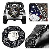 Fresquo Spare Tire Cover, American Flag Eagle
