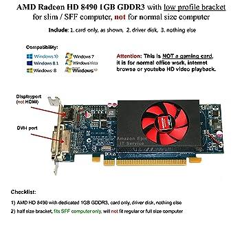 Amazon.com: AMD Radeon HD 8490 1 GB DDR3, PCIe x16, DVI ...
