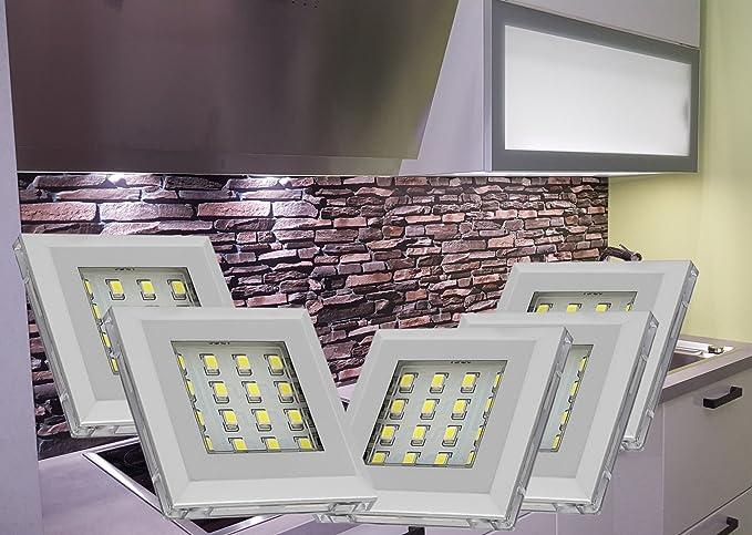 Lampade da incasso a led in alluminio bianco freddo 5 set di mobili