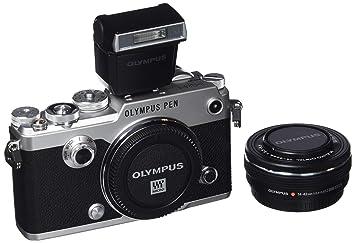 olympus pen f camera silver amazon co uk electronics
