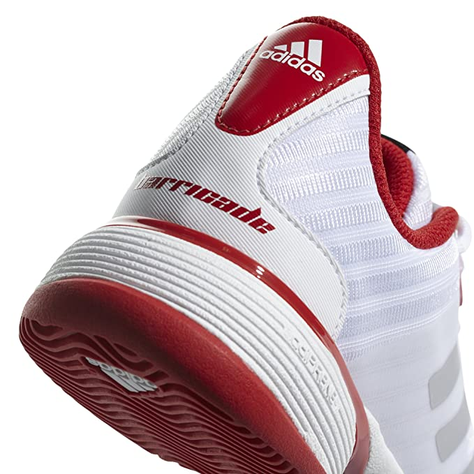 timeless design d01ec 8859d adidas Barricade 2018 Xj, Chaussures de Tennis Mixte Enfant, Blanc  NegbasFtwbla 000, 33 EU Amazon.fr Sports et Loisirs