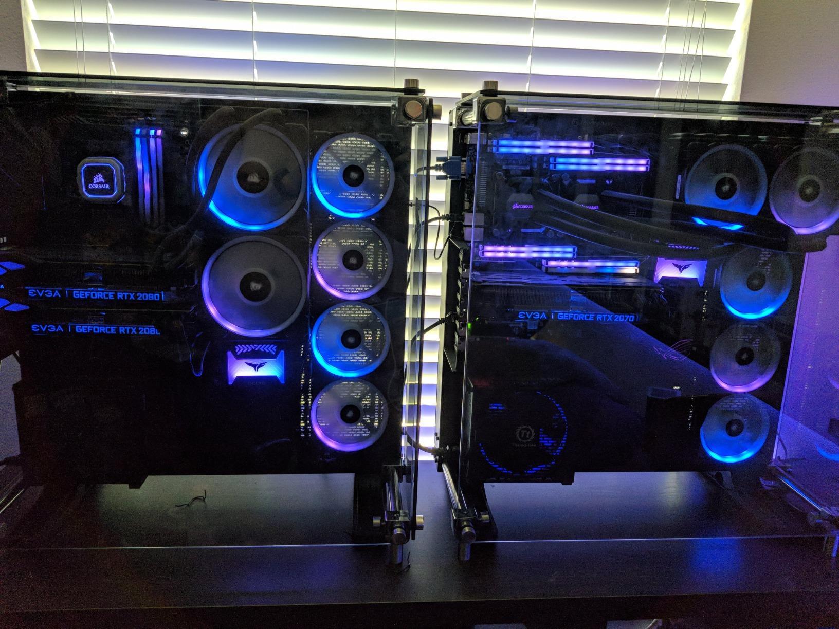 EZDIY-FAB 12V RGB Memory RAM Cooler DDR Heatsink for DIY PC