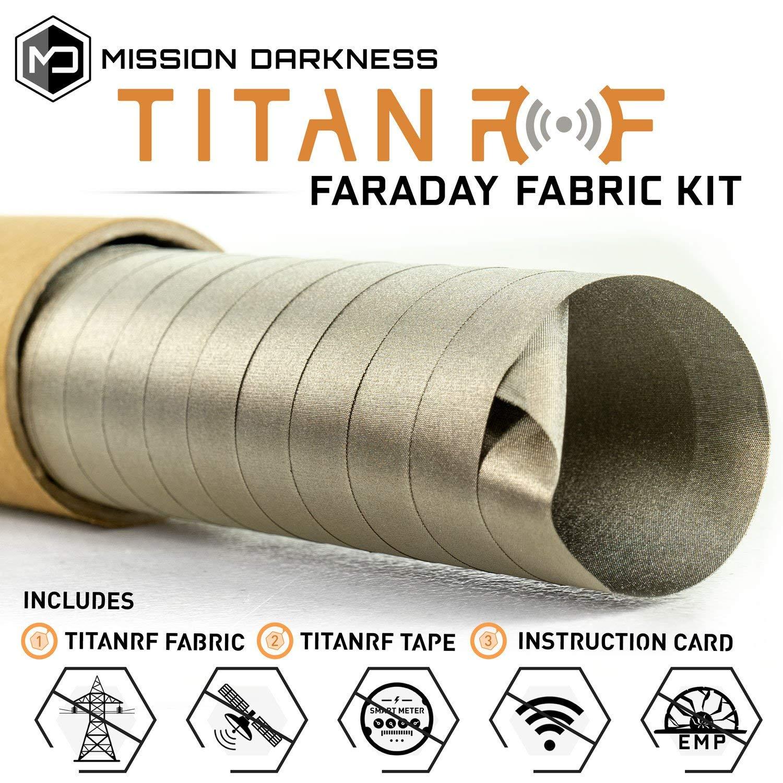 TitanRF Faraday Fabric // EMI & RFID Shielding/Cell, WiFi & Bluetooth  Blocking/Military Grade Shielding Fabric (44