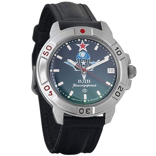 Vostok KOMANDIRSKIE 2414 431021 Militar ruso reloj mecánico: Amazon.es: Relojes