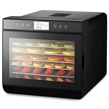 Magic Mill Food Dehydrator Machine - Easy Setup, Digital Adjustable Timer, Temperature Control | Keep Warm Function | Dryer for Jerky, Herb, Meat, Beef, Fruit and To Dry Vegetables | Over Heat Protection | 7 Stainless Steel trays