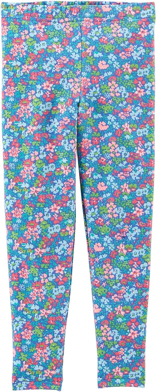 Carters Little Girls Floral Leggings Blue multi