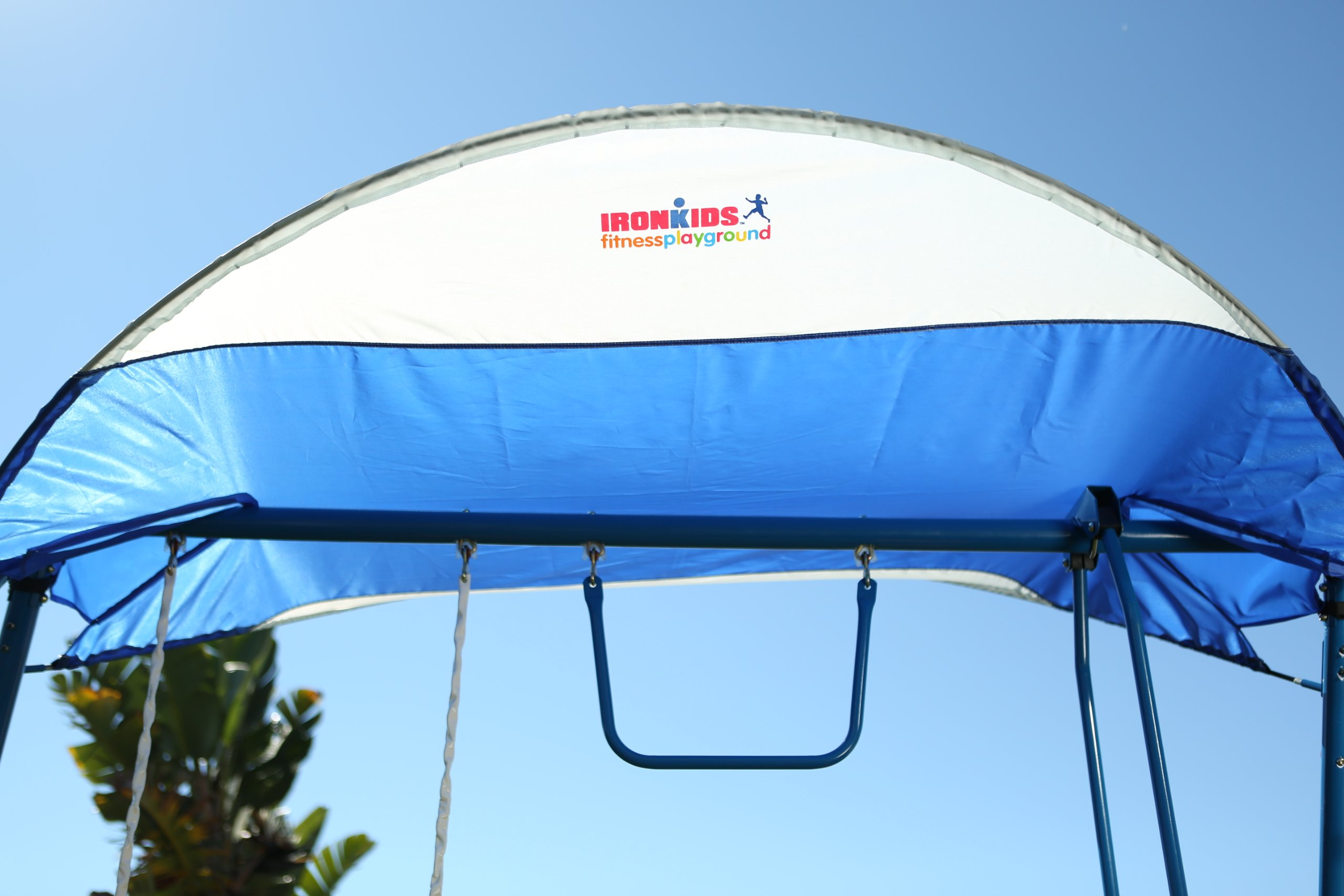 Ironkids Challenge 100 Metal Swing Set with Ladder Climber and UV Protective Sunshade by IRONKIDS (Image #8)
