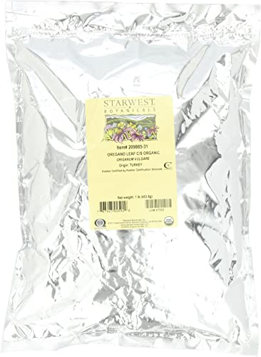 Starwest Botanicals Organic Oregano Leaf Cut, 1-pound Bag
