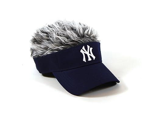 6f5deada19e8d Amazon.com   MLB New York Yankees Flair Hair Adjustable Visor