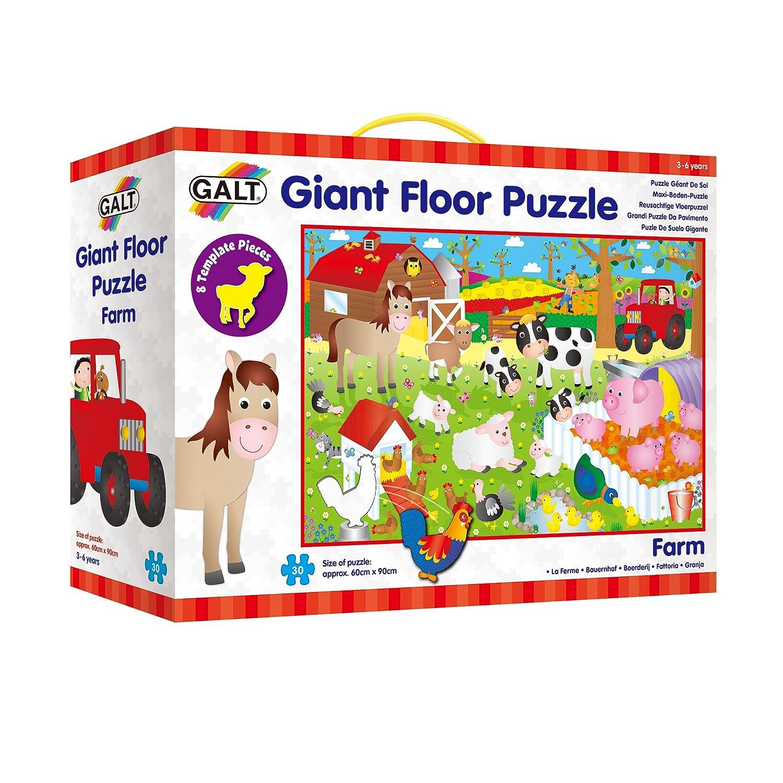 Giant Floor Puzzle Galt Toys Farm A0857D Animals Floor Puzzles