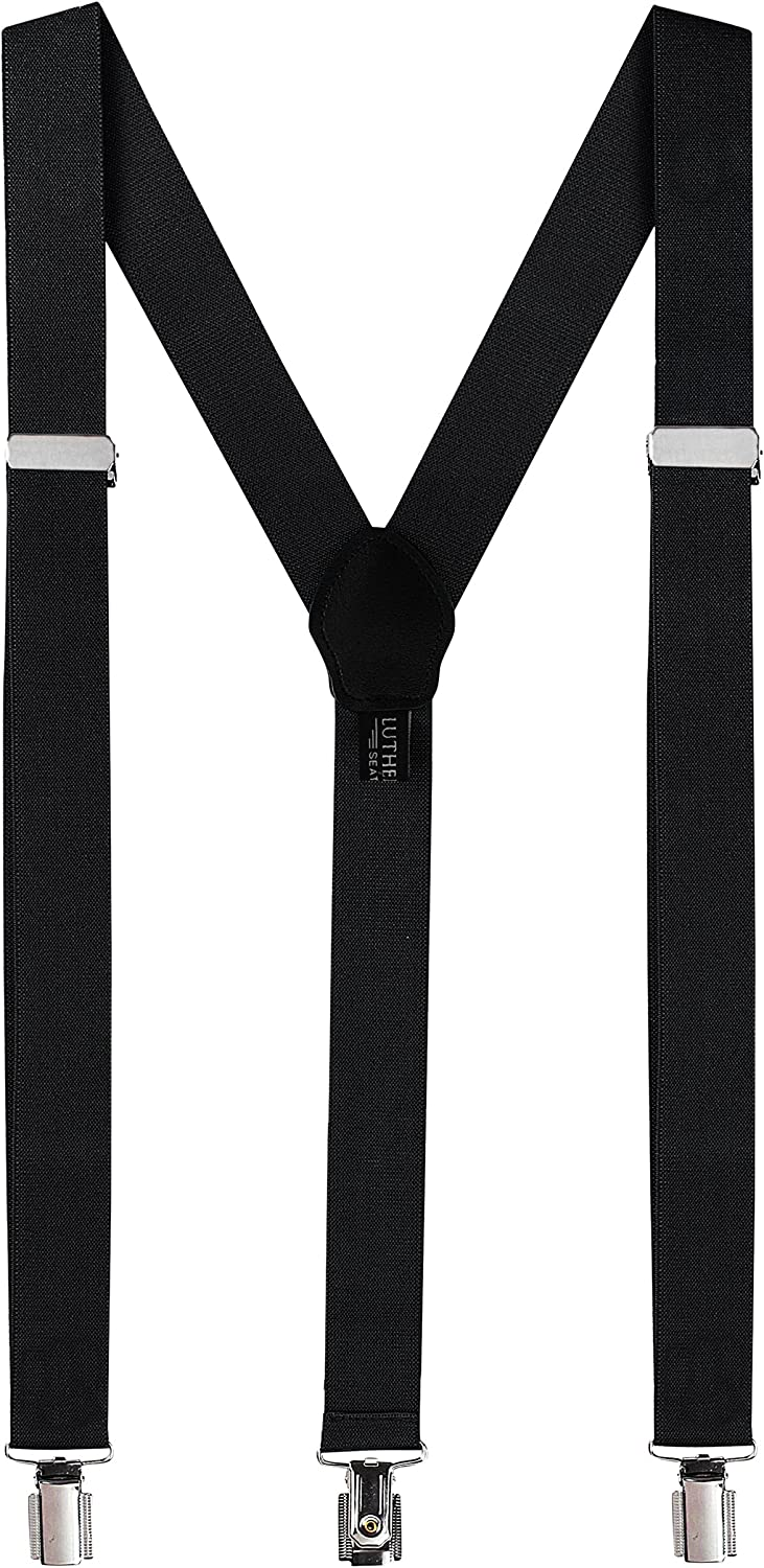 Women's Leather tight Suspenders dress Y-Back Trousers Adjustable Brace 3 clip