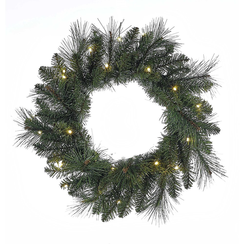 Kurt Adler H4097 18'' Green LED Wreath