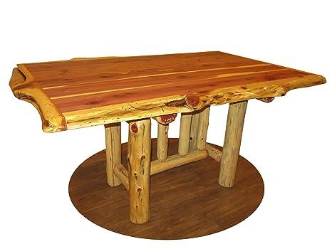 Amazon Com Furniture Barn Usa Rustic Red Cedar Log Trestle Dining