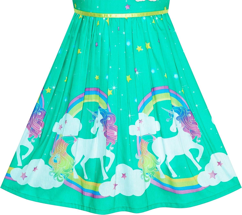 98-146 Sunboree M/ädchen Kleid Lila Rose Blume Doppelklicken Krawatte Party Kids Tr/ägerkleid Gr