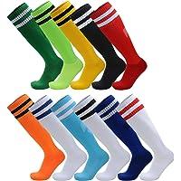 AD Taylor 2 Pack Unisex Knee High Striped Sports Football/Soccer/Hockey Tube Socks for Men, Women, Boys & Girls
