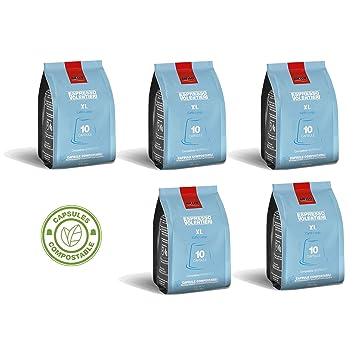 Caffé Aiello XL Lungo Capsules, Italian Espresso, Nespresso Compatible - 5 Pack (50