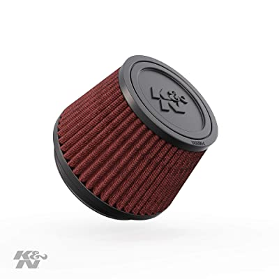 K&N Universal Clamp-On Air Filter: High Performance, Premium, Washable, Replacement Filter: Flange Diameter: 3.5 In, Filter Height: 3 In, Flange Length: 0.625 In, Shape: Round Tapered, RU-4410: Automotive