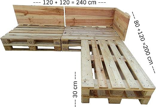 ESTRUCTURA SOFÁ CHAISE LONGUE - Decoración & Conjunto & Muebles de Jardin & Terraza echo con palets de madera - Banco, mesa. sillones, sillas,sofas: Amazon.es: Hogar