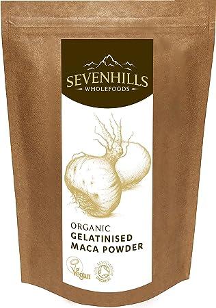 Sevenhills Wholefoods Maca Gelatinizada En Polvo Orgánico 500g: Amazon.es: Salud y cuidado personal
