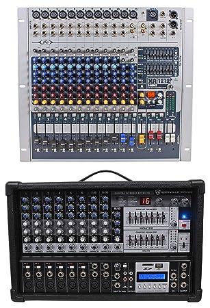 Peavey xr1212 mezclador de 12 canales W/2 600 W amplificadores XR 1212 xr1212p + mezclador gratis.: Amazon.es: Instrumentos musicales