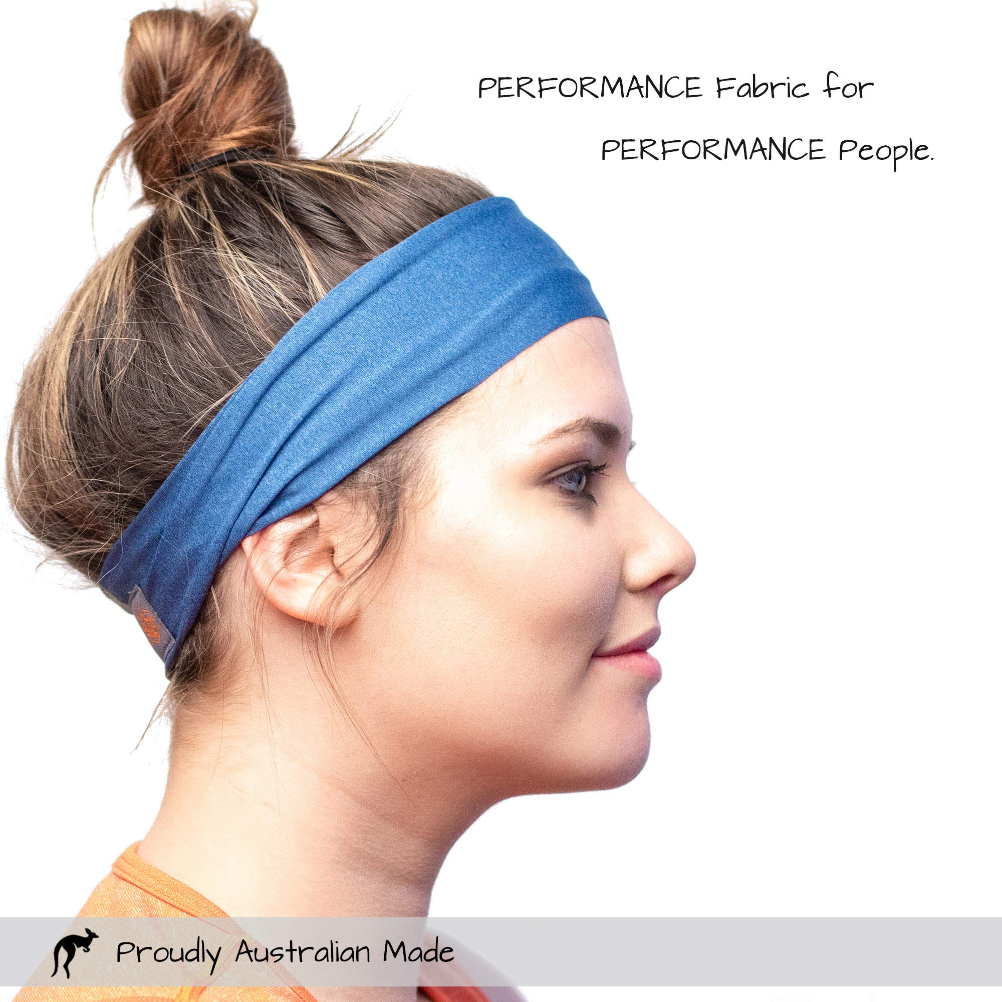 Red Dust Active Workout Headband - Ideal for Sports, Fitness, Running, The Gym & Yoga - Moisture Wicking - Non-Slip - Exercise Sweatband - Designed for Versatility & The Active Women by Red Dust Active (Image #6)