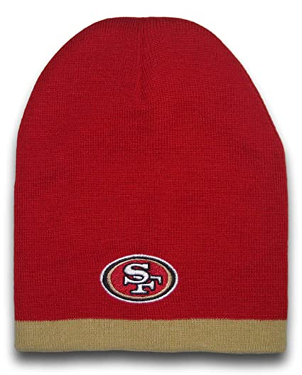 Image Unavailable. Image not available for. Color  Fan Apparel San  Francisco 49ers Gold Tip Uncuffed Beanie Hat Cap Lid Toque 9f9e66d978b5