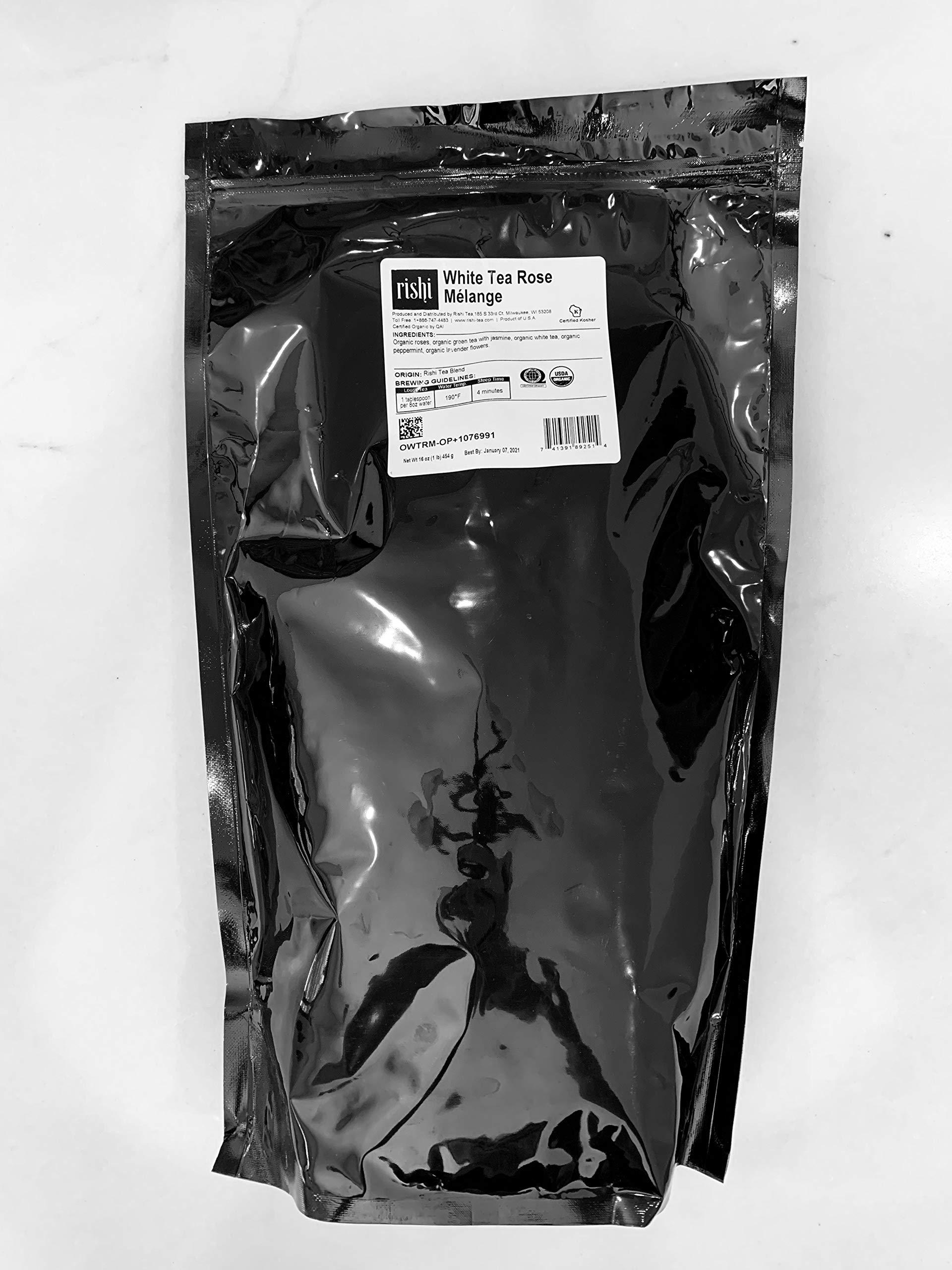 Rishi Tea Organic White Tea Rose Melange - 1 lb