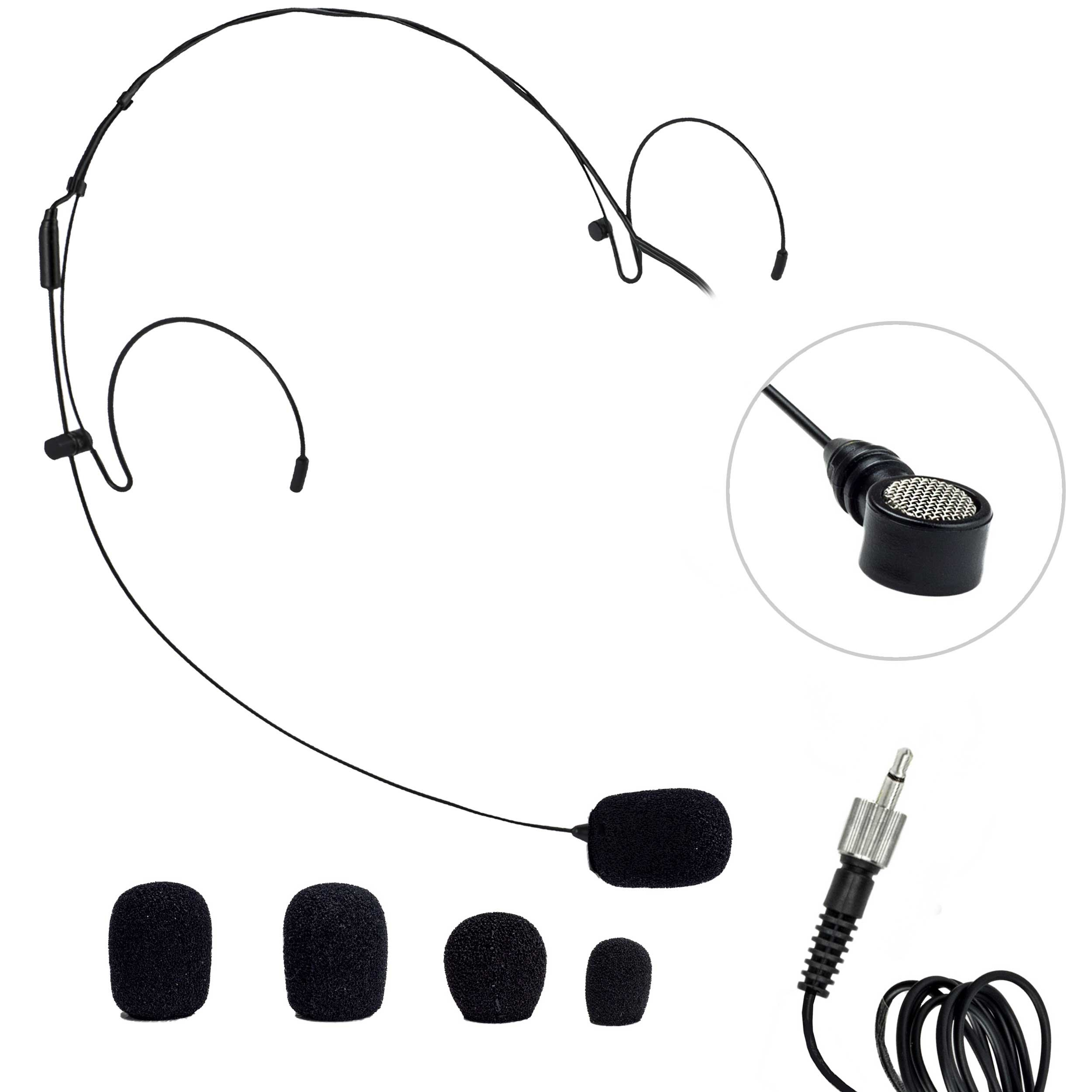 Nady HM-20U Headset Microphone Black 3.5 MM by Nady