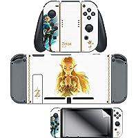 "Skin & Screen Protector Set - The Legend of Breath of the Wild ""Princess Zelda"" Joy-Con & Dock Set - Nintendo Switch, White"
