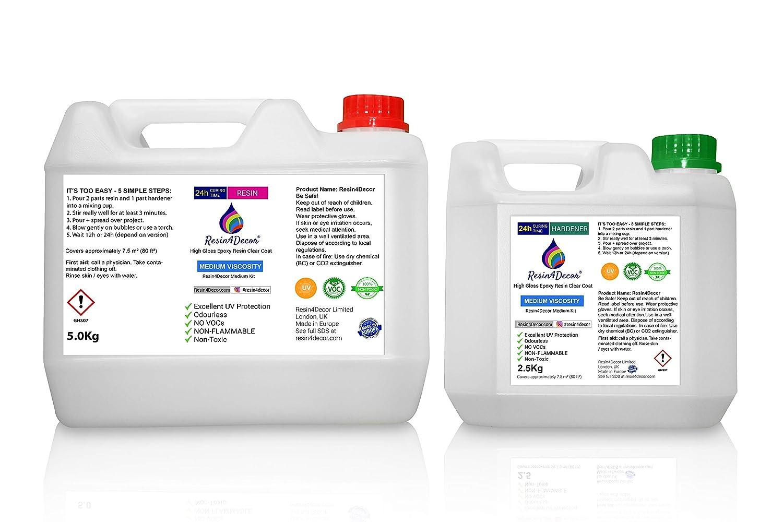 Epoxy Art Resin Clear Medium Viscosity Non-toxic UV