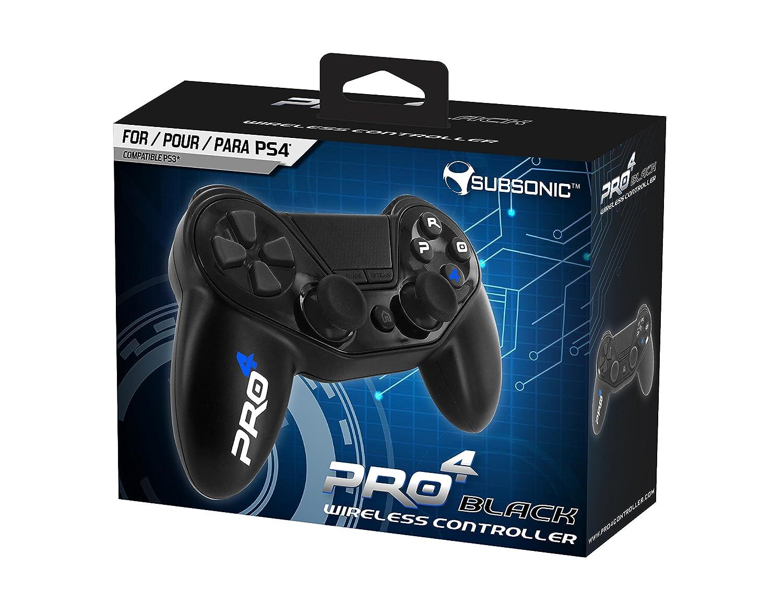 Subsonic - Pro4 Black Wireless Controller, mando para Playstation 4 y PS4 Slim, negro: Amazon.es: Videojuegos