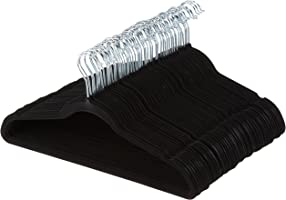 AmazonBasics ganchos de terciopelo para trajes, paquete con 50 unidades