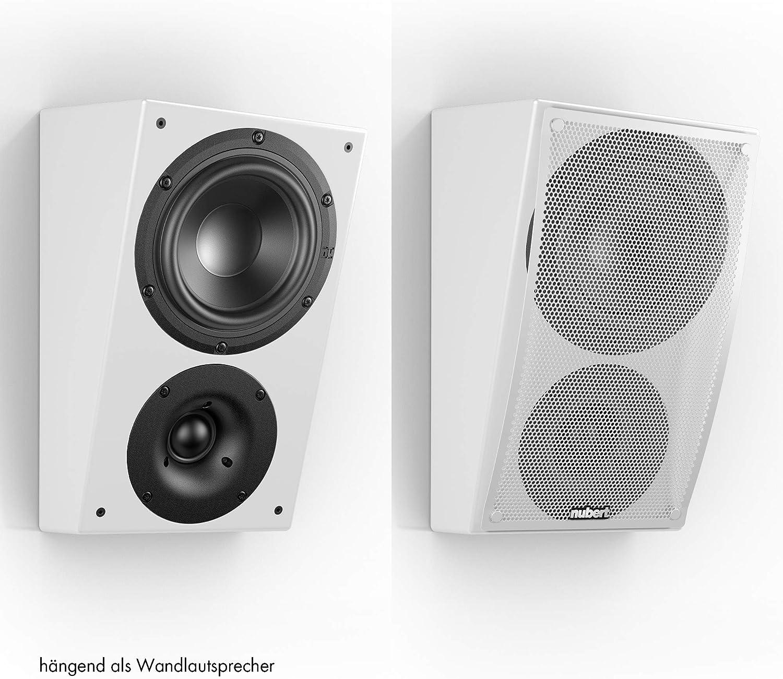Nubert nuLine RS-54 Dolby Atmos Lautsprecherpaar Aufsatzlautsprecher geeignet f/ür Dolby Atmos /& DTS:X  Passive Surroundboxen mit 2 Wegen Made in Germany Kompaktlautsprecher Schwarz 2 St/ück