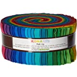 2-1/2in Strips Roll Up Kona Cotton Solids Classic Palette 41Pcs