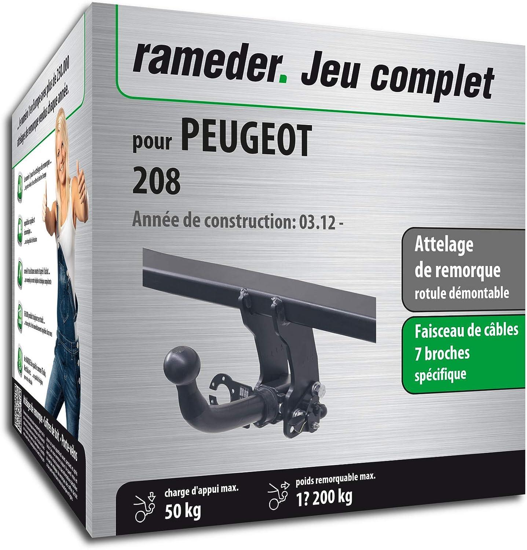 Rameder Attelage rotule démontable pour Peugeot 208 + Faisceau 7 Broches (134336-10164-1-FR)