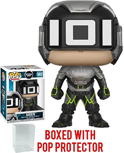 Parzival Vinyl Figure Funko Pop Bundled with Pop Box Protector Case Movies: Ready Player One