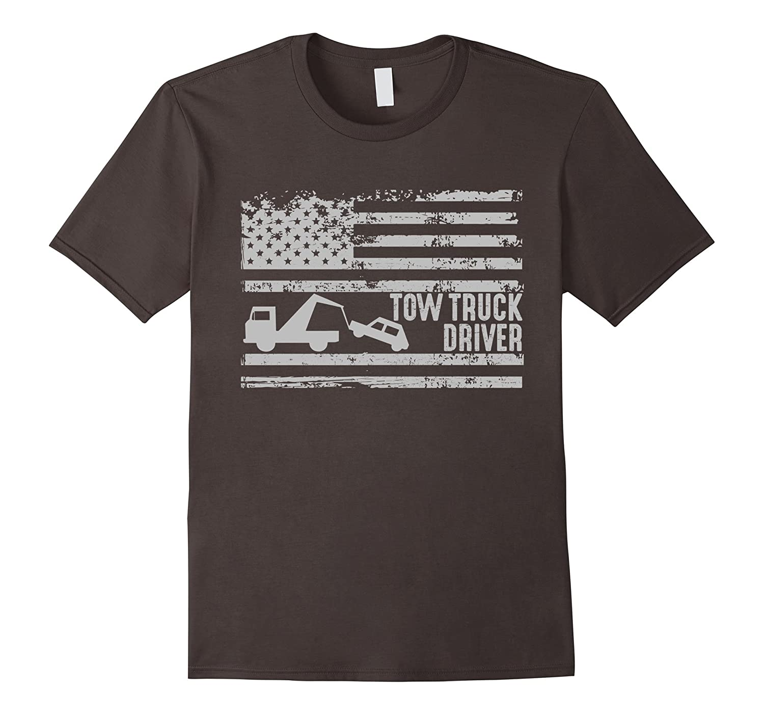 American Tow Truck Driver United States Flag Gift T-Shirt-CD